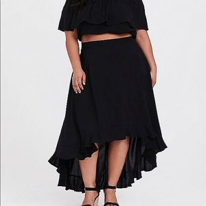 Torrid Crop top & skirt two piece outfit